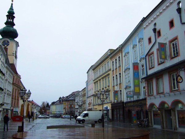 The city center of Wels