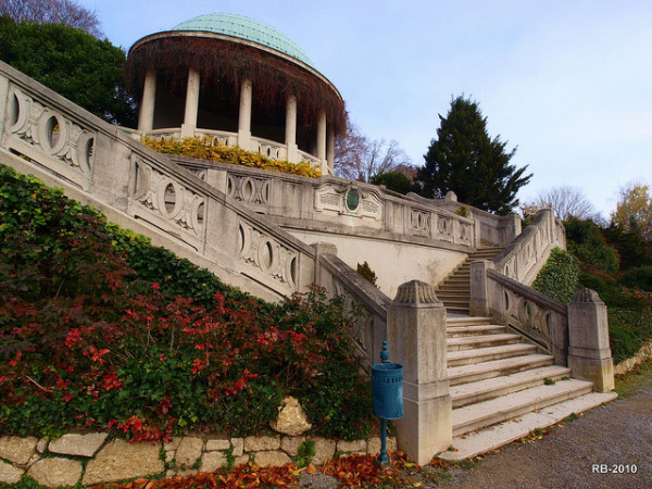 Beethoventemple in the Kurpark of Baden, Austria