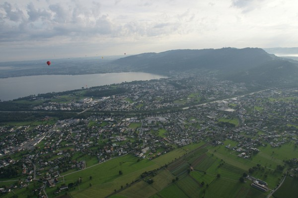 Bregenz and Lake Constanz or Bodensee