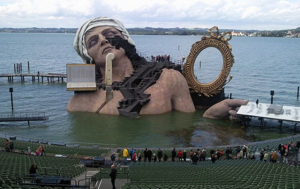 Opera scene in Bregenz on the Lake of Constanz