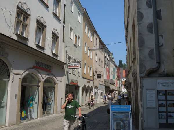 The charming old streets of Steyr in Austria