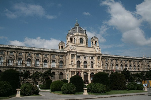 Old building in the Museumsquartier in Vienna