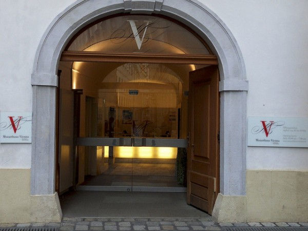 The entrance of the Mozarthaus in Vienna