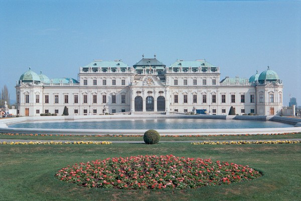 The front of the Upper Belvedere