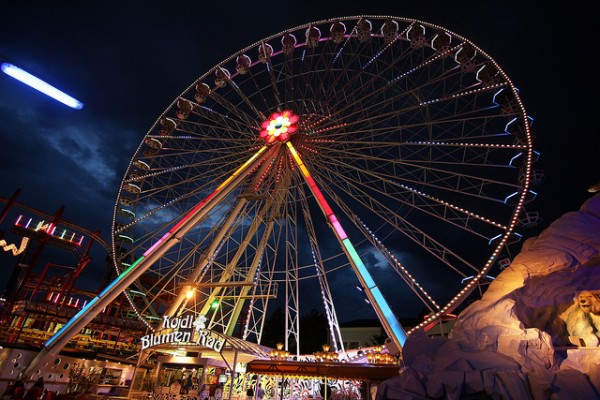 The wheel of the Prater Amusement Park