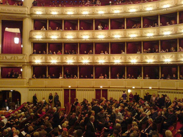 Inside the State Opera in Vienna