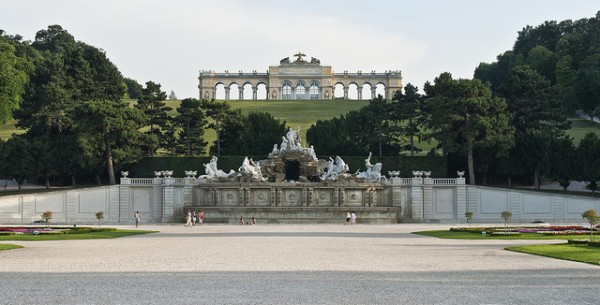 The Gloriette in the court of the Schonbrunn Palace