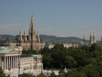 The City Hall of Vienna or the Wiener Rathaus