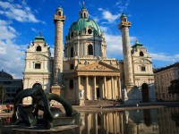 Karlskirche or the Church of Saint Charles in Vienna