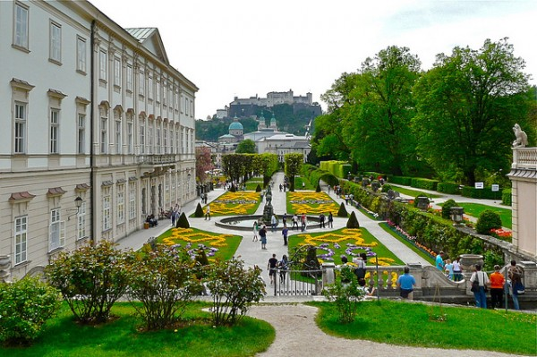 The city of Salzburg and the fortress on the hill