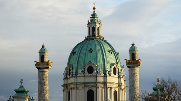 The dome and the columns of the Karlskirche