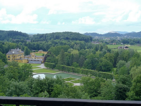 The garden of the Hellbrunn Castle