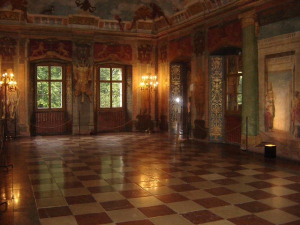 The interior of the Hellbrunn Palace