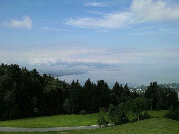View of Bregenz with Lake Constance