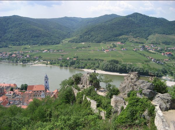 View of Durnstein and the Danube
