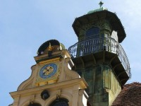 The the clock tower in the Glockenspielplatz