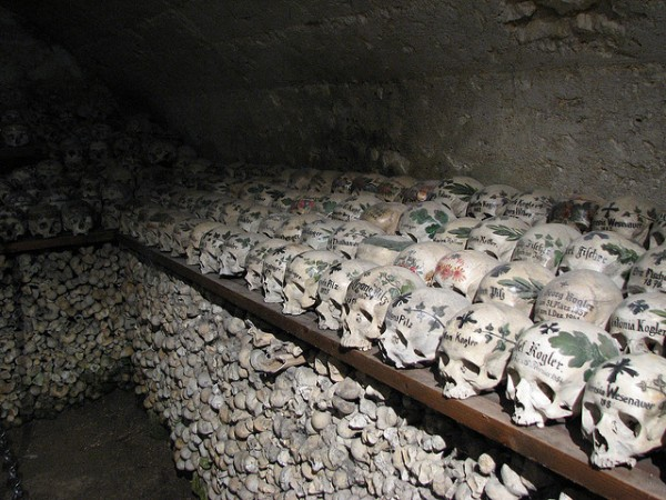 Skull room in Hallstatt