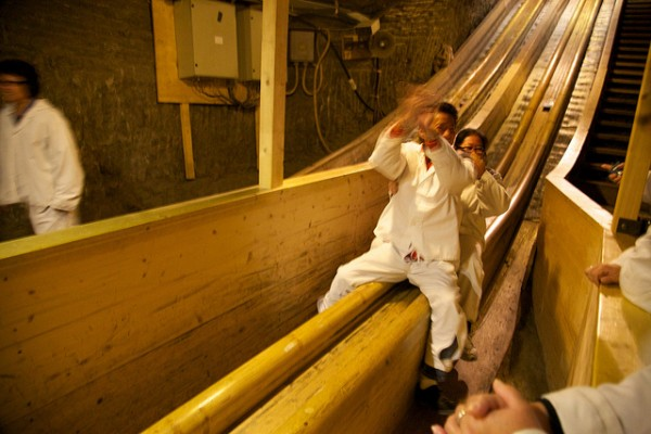 The slide of the Salzburg salt mine in Hallein