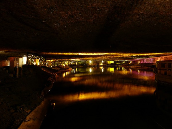 Underground lake of the salt mine